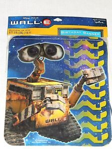 NEW ~WALL.E~ DISNEY PIXAR HAPPY BIRTHDAY BANNER PARTY SUPPLIES