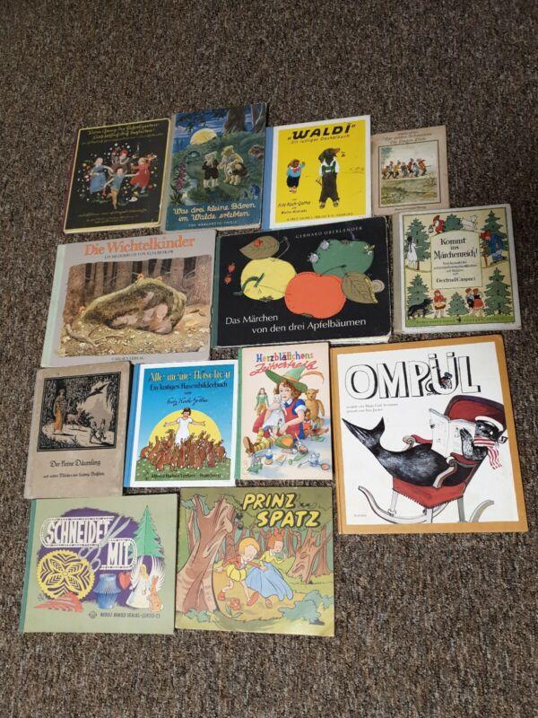 13 Stk. alte Kinderbücher, Raritäten, teilweise antiquarisch