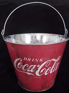 * COCA COLA COKE VINTAGE RETRO STYLE ICE BUCKET BBQ /TIN/GARDEN FLOWER POT -NEW