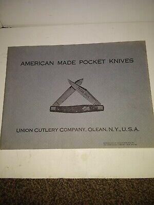 Union Cutlery Company;Olean NY USA . American made pocket knives Rep 1912/23