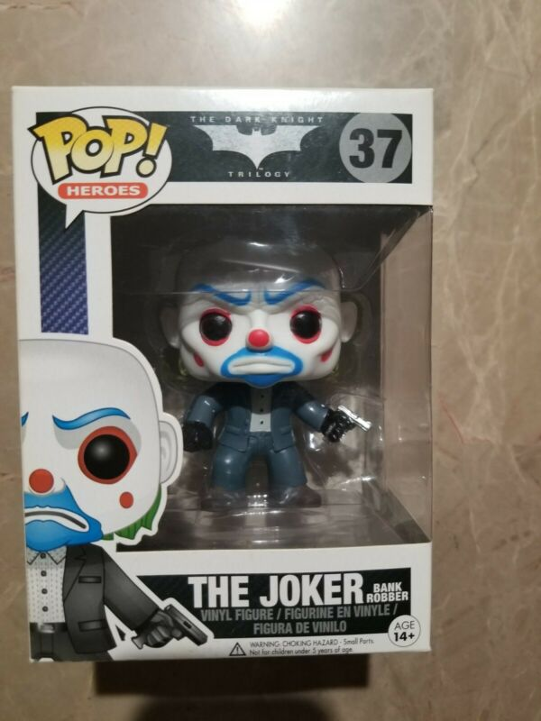 New Batman The Dark Knight The Joker Bank Robber Wacky Wobbler Figure Official