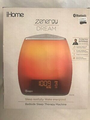 iHome Zenergy Bedside Sleep Therapy Machine Sleep Better & Longer Zen Light