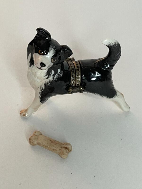 Studio USA Dog trinket box with bone