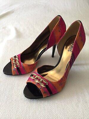 Carlos By Carlos Santana Pink/Orange Juliet D'Orsay Jeweled Stiletto, Size 8 Jeweled Stiletto