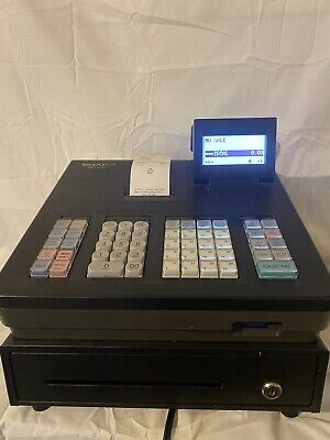 Sharp Xe-a207 Electronic Cash Register - Menu Based Control System - No Key