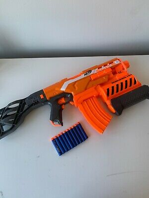 EUC NERF Elite Demolisher 2 in 1 Blaster With Ammo, Tested, Works