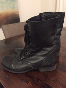 Boots by Steve Madden, Black Combat Boots