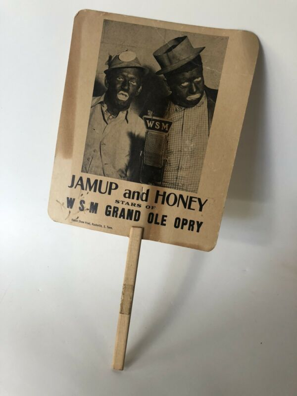 Jamup & Honey WSM Grand Ole Opry Uncle Dave Macon and Gabe Tucker Black Face Fan
