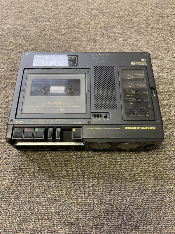 Marantz PMD430  Stereo Professional Cassette Recorder