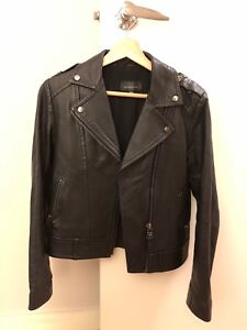 Mackage black leather jacket XS for aritzia