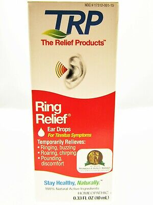 Ring Relief Ear Drops for Tinnitus Symptoms Chirping Pounding Roaring Discomfort