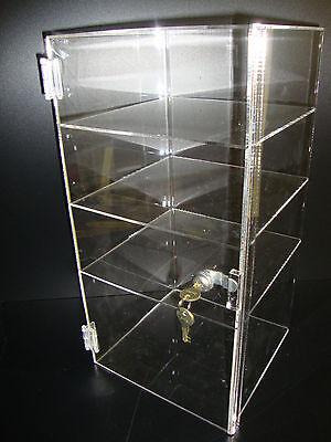 Acrylic Countertop Display Case 9 12 X 9 12 X 19 Locking Security Showcase