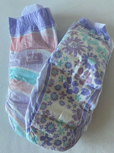 Goodnites XL Diapers. New Size. 95 -140+ Ibs - GIRLS  Sample Pack of Two NEW!