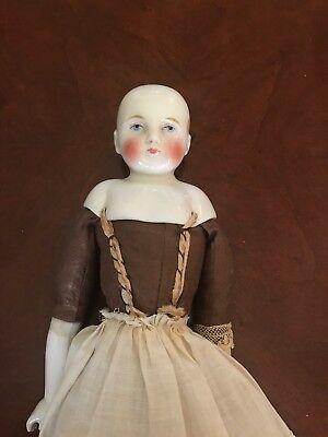 vintage/antique porcelain china head doll - no hair