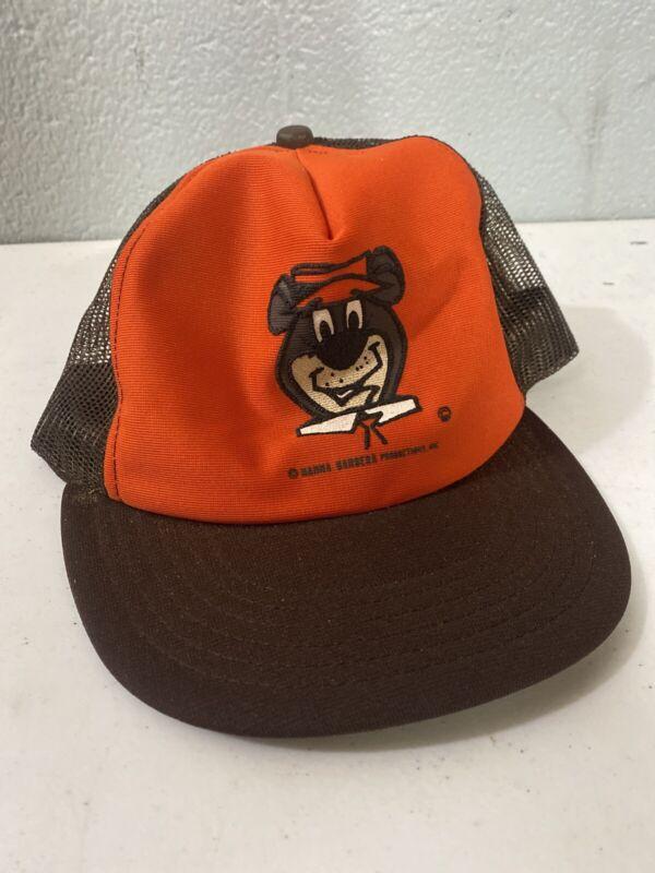 Vintage Hanna Barbera Yogi Bear Mesh Snapback Hat See Pictures USA
