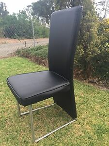 8x Black Leather Dining Chairs Windsor Hawkesbury Area Preview