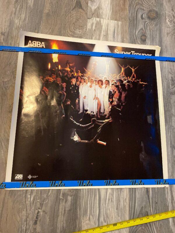 RARE VINTAGE ABBA Super Trouper POSTER 24x24 inches GREAT MEMORIES
