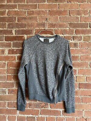Siki IM DEN IM Men's Sweatshirt, Asymmetrical Zip Gray Medium