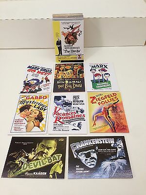 MOVIE POSTERS 2009 STARS, MONSTERS & COMEDY Breygent Complete Card Set (1-72)