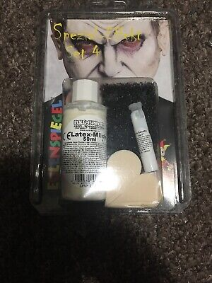 Halloween Makeup With Latex (Halloween Special Effect Set 4 with latex-Milk 50 ML, Mastix-sensitive)