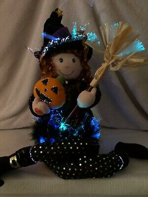 """Vintage Susie The Witch Fiber Optic Animated Sings """"Gouhls Just Want To Have Fun"""