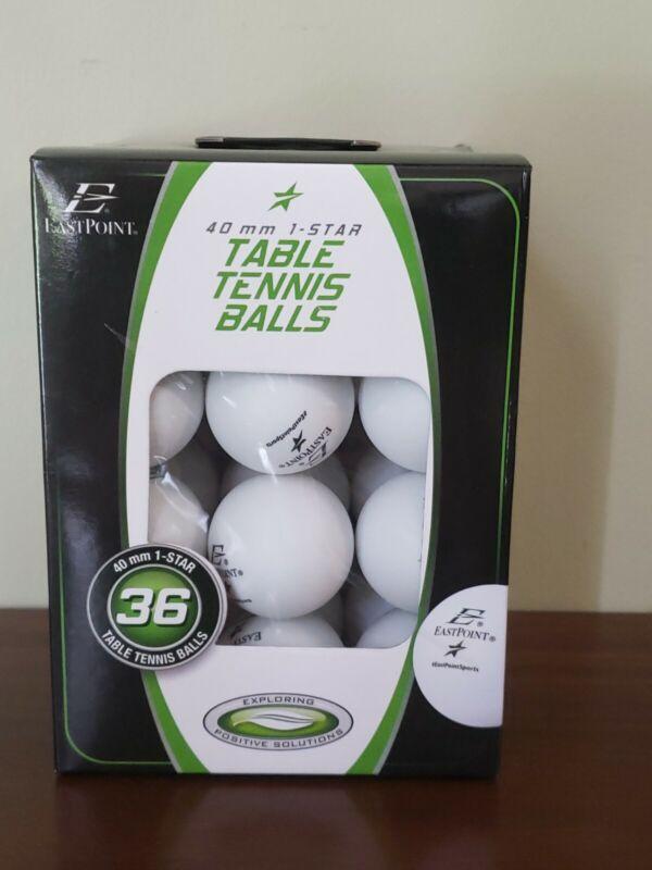 EASTPOINT 40MM 1 Star Table Tennis Balls, Pack of 36 Balls-New!