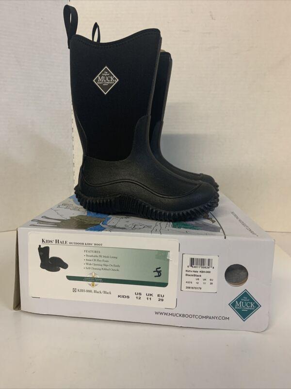 NEW Muck Kids Hale Outdoor Kids Boots Style: KBH-000, Black/Black Size 12 Kids