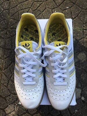 ADIDAS INDOOR SUPER LONDON TO MANCHESTER YELLOW WHITE Used UK10
