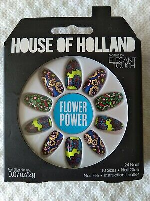 House Of Holland Nails By Elegant Touch - Flower Power    NEW