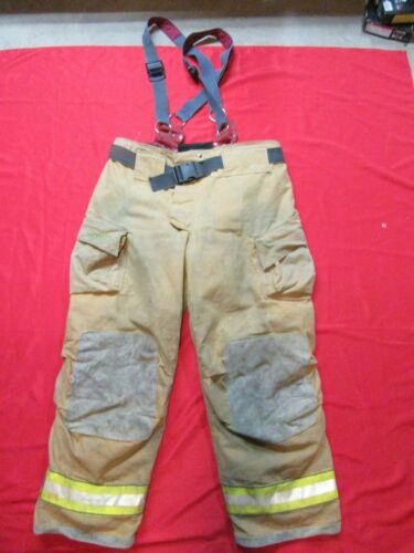 46 x 32 Cairns REAXTION Firefighter Pants W Suspenders Bunker Turnout Fire Gear