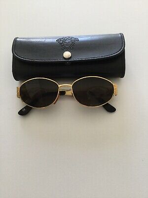 Vintage VERSACE Ladies Gold Sunglasses