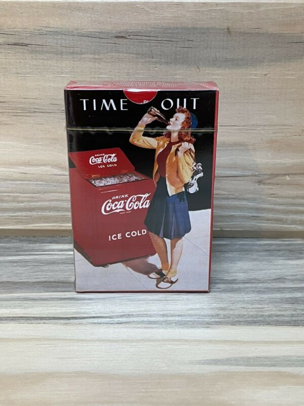 """Vintage Rare Coca Cola """"Time Out"""" Deck Playing Cards  NEW"""
