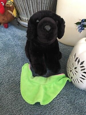 Aurora A&A Vintage Stuffed Plush Animal Black Labrador Retriever Lab Puppy Dog for sale  Buxton
