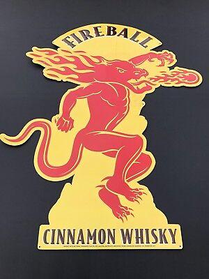Large Metal Fireball Whiskey Sign