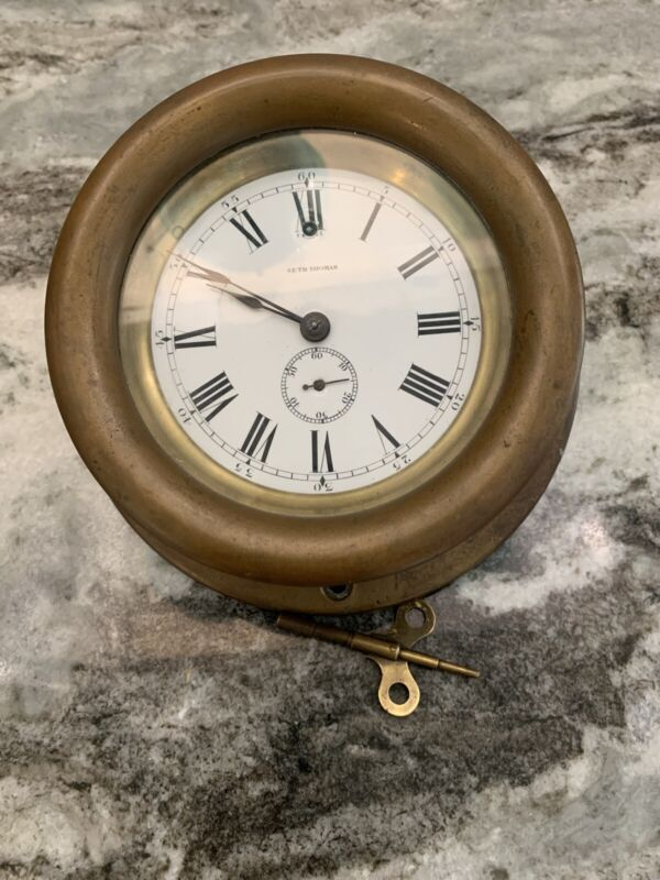 Brass Seth Thomas Wall/Ships Clock