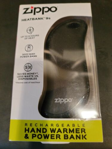 Zippo Heatbank 9S Rechargeable Hand Warmer & Power Bank Z4A18 40582 Black