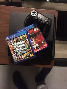 PS4 with one controllers and games