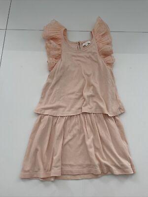 CHLOE Girls Size 6 Peach Jersey Dress