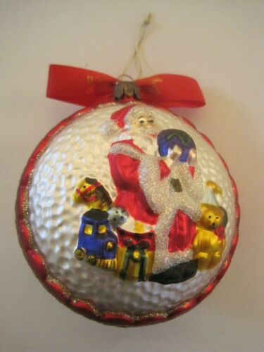Waterford Santa Holding World Toys Ornament