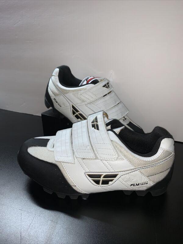 🔥Fly Racing Mountain Bike/BMX Clip Shoes Youth Size 6🔥mtn bike shoes