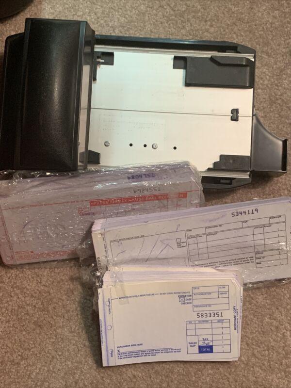 ADDRESSOGRAPH NEWBOLD Flatbed Credit Card Manual Imprinter w/  Receipts