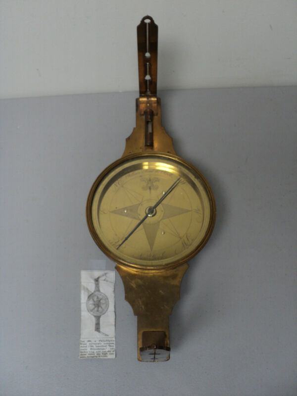 FABULOUS 19th CENTURY ANTIQUE AMERICAN, NEW YORK BRASS SURVEYOR