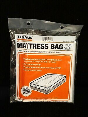 UHAUL 2 Mil Mattress Bag TWIN Size 87'' x 39'' x 10