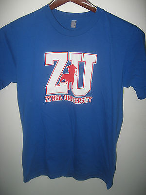 Zynga University Summer 2010 Usa Computer Online Video Game Blue Logo T Shirt M