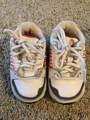 adidas Bounce Cool Sneaker Shoes White Leather Boys Infant Toddler 3K Clean