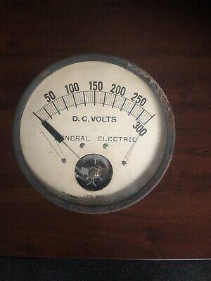 7 Ge Antique Industrial Volt Meter Steampunk Gauge Vtg. General Electric Tested
