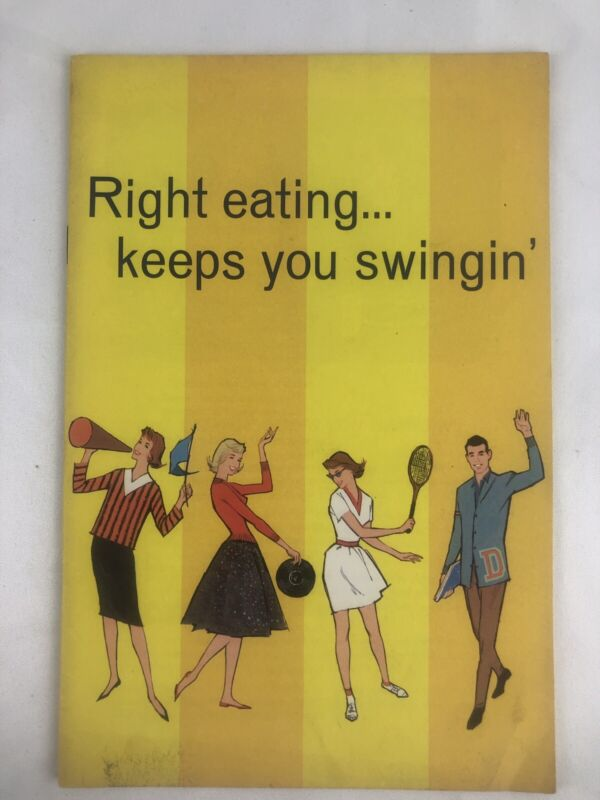 Carnation Milk Vintage Advertising 1960 Right Eating Keeps You Swingin