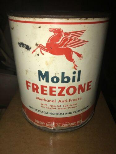 VTG Mobil Freezone Can Socony Mobil Oil Co 1 gallon Pegasus gas service station