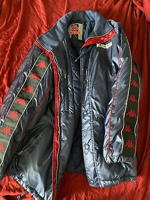 Kappa Jacket Blue Vintage Soccer Football Warm Large Sport Coat