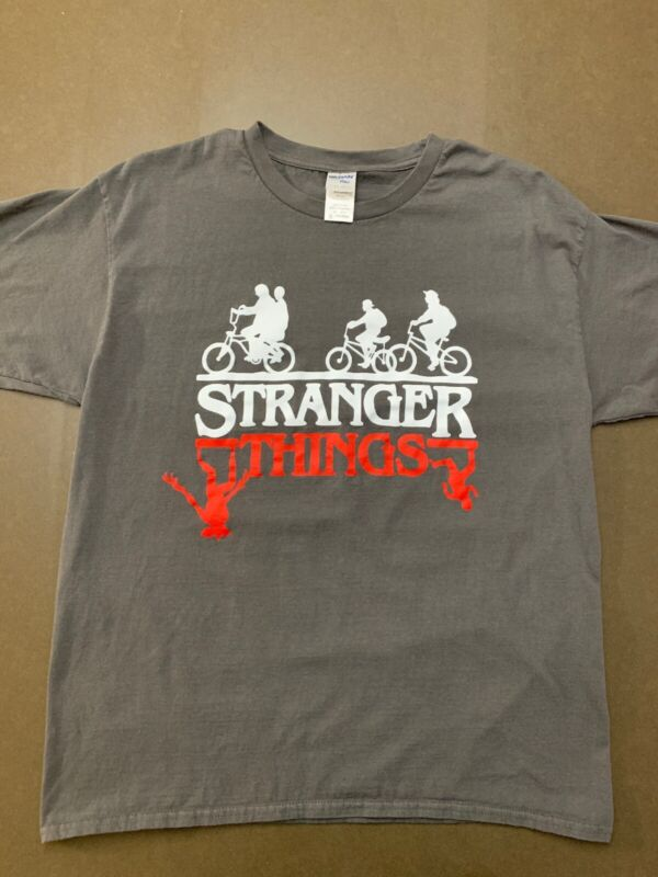 Stranger Things T-Shirt Adult XL The Upside Down Gray